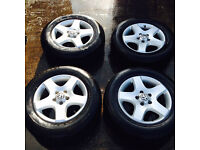 VOLKSWAGEN TOUAREG 2003 - 2007 17 INCH ALLOYS WITH 235/65/17 TYRES
