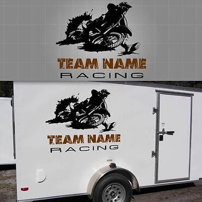 - Motocross Race Team Graphic, Motorcross Sticker, Truck Window Decal - 30