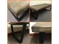 Industrial coffee table/tv Stand/Wood/Furniture/Home/Bespoke/steel
