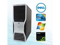 Gaming Dell Precision T3400 PC TOWER,4GB RAM,NVIDIA QUADRO GRAPHICS