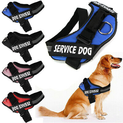 Service Dog Vest Harness Adjustable Patches Reflective Small Large Medium S-2XL ()