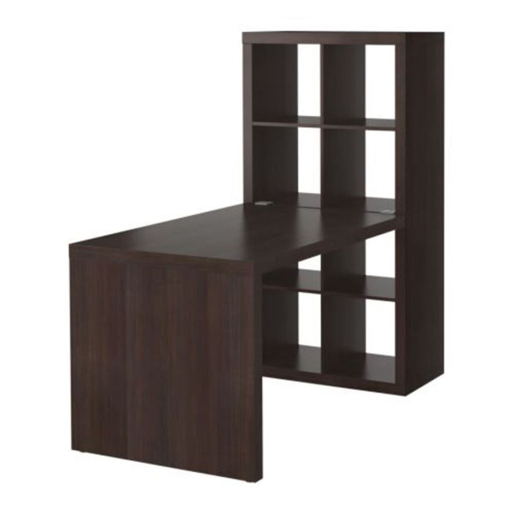 ikea kallax expedit desk and 8 section shelving unit in black brown in ealing london gumtree. Black Bedroom Furniture Sets. Home Design Ideas
