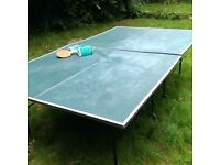 Outdoor Folding Table Tennis Table with Cover, Bats, etc.