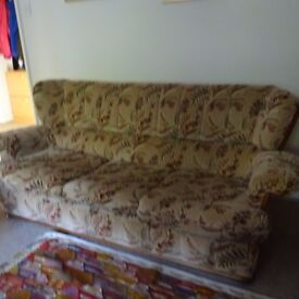 Three piece beige suite for COLLECTION only but FREE