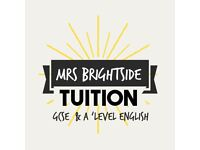 English Tutor (Experienced GCSE and A'Level English Teacher and Examiner)