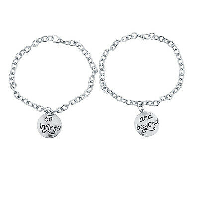 Lux Accessories Silver Tone To Infinity And Beyond BFF Charm