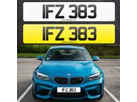 IFZ 383 - Short 3 digit NI Number Plate- Cherished Personal Private Registration plates
