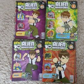 Ben 10 Comics numbers 1-47 and Trading Cards