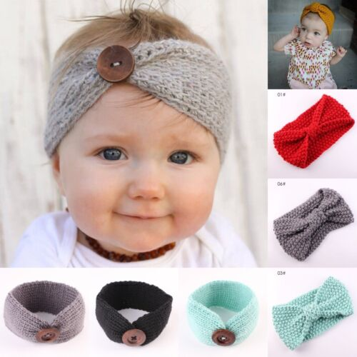 Cute Kids Girl Baby Toddler Crochet Bow Headband Hair Band