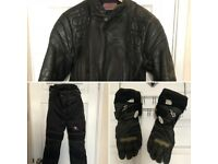 motorbike clothing!! jacket, trousers and gloves
