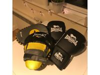 L/XL Lonsdale Boxing Gloves + Everlast 'Evergel' Punch Mitts