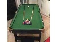Pool table foldable for easy storage