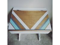 Vintage School Desk, Handpainted One of a kind Childrens Desk