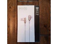 KEF M100 In-Ear Hi-Fi Headphones - Champagne Gold