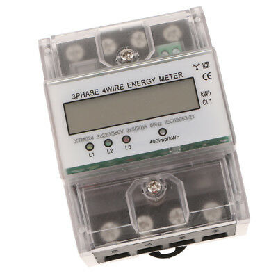 Durable Din Rail Power Meter 3 Phase 4 Wire Kwh Meter Three Phase Meter