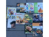 10 x second hand cookery books