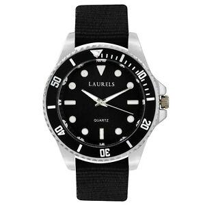 Laurels-Cuba-Analog-Black-Dial-Men-039-s-Watch-Lo-Cub-102