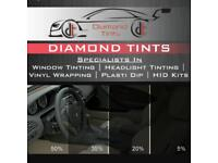 Diamond window tints (£80)