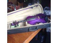 Half size purple violin