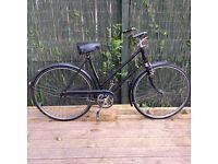Vintage ladies bike Currys rod brake bike. Old and not restored