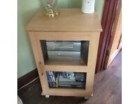 Hifi cabinet and matching nest of tables