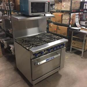 IMPERIAL 6 BURNER RANGE - STOREYS RESTAURANT SUPPLY - PRICE IS TOO LOW TO ADVERTISE - WILL NOT BE UNDERSOLD
