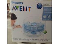 new unused philips avent microwave steam steriliser