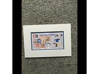 Signed Ally McCoist Banknote.