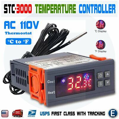 Stc-3000 Ac 110v-220v Digital Temperature Controller Led Thermostat Probe Sensor