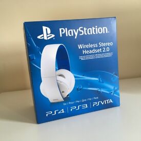 Sony PlayStation Wireless Stereo Headset 2.0 White [New & Sealed]