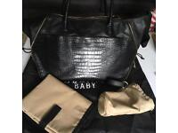 Luxury designer leather Bellamy Baby changing bag cost £300