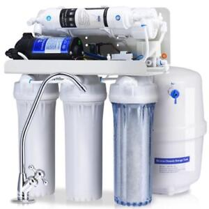 5-Stage Ultra Safe Reverse Osmosis Drinking Water Filter System Purifier White - BRAND NEW - FREE SHIPPING