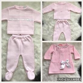 3 Knitted Spanish Baby suits