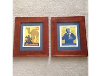 Two Framed Authentic/Vintage Ludwig Hohlwein Beer/Bier Lithographs