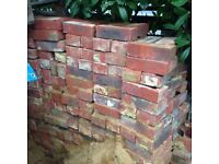 RECLAIMED RED STOCK BRICKS STAMPED IBSTOCK APPROX 400 No