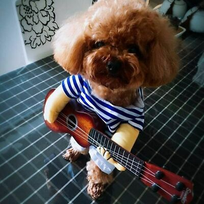 Halloween Costume Dog (Funny Guitarist Pet Dog Costumes Puppy Halloween Party Costume Clothes)
