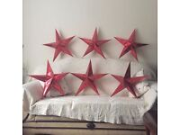 BRAND NEW XMAS CHRISTMAS STARS RED FOR CHRISTMAS TREE OR DECORATION