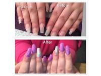 Gel/acrylic nails