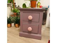 Bedside drawer Contempo Manufacturing Made In London Lavender Bedside Drawer Solid Oak Cute