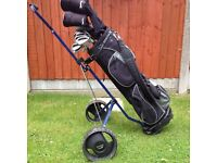 Slazenger Firesteel Golf Clubs, Bag and Trolley