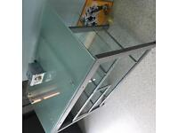 Three tier tempered glass table