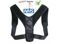 Posture Corrector Body Brace Back Lumbar Shoulder Support Men and Woman Belt UK