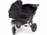 Out 'n' About Nipper Double V4 pram with extras.Great price.