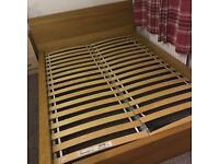 Wooden oak Double bed frame only