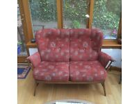Ercol 3 Piece Suite in Golden Dawn Wood - Excellent Condition