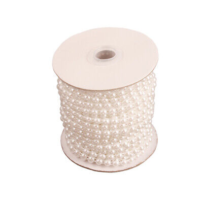 25m Perle Perlen Fringe Lace Edging Trim Band Braut Hochzeit Ornamente 6mm