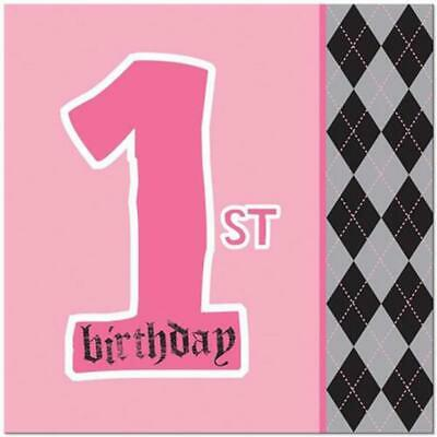 Li'l Angel 1st Birthday Lunch Dinner Napkins First Party Supplies 16 Per Package