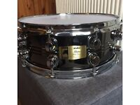 "Mapex Black Panther Steel Snare Drum 14x5.5"" with Evans heads"