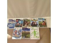 Nintendo Wii , Wii fit board and 8 games