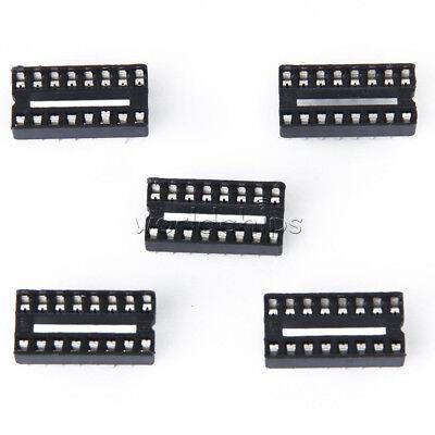 100pcs 16-pins Dip Ic Sockets Adaptor Solder Type Socket